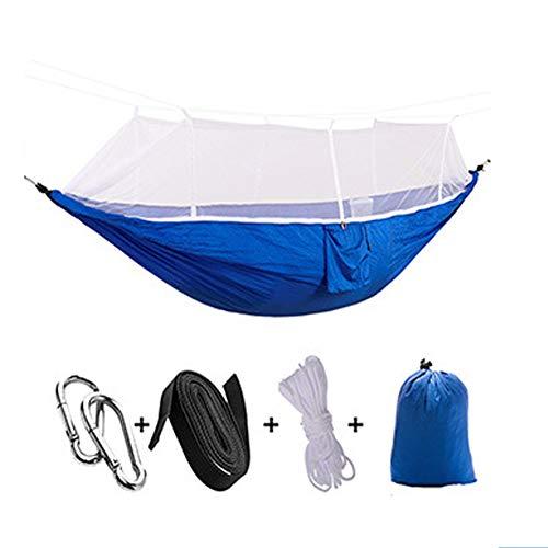 Hangmat Voor Buiten, Met Klamboe, Voor Snelle En Eenvoudige Installatie, Ideaal Om Te Wandelen, Backpacken En Buiten Reizen,Blue