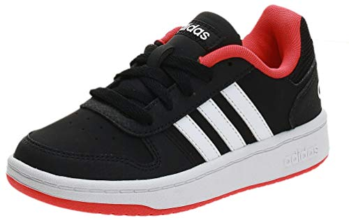 adidas Unisex-Kinder Hoops 2.0 Fitnessschuhe, Schwarz Core Black Footwear White Hi Res Red 0, 34 EU