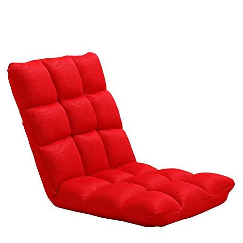 WHOJA Sillón Reclinable Sofá pequeño Individual Ajuste de 5 velocidades Malla Transpirable Ocio y Confort Silla de computadora Dormitorio Sala de Estar Sillon Relax (Color : Red)