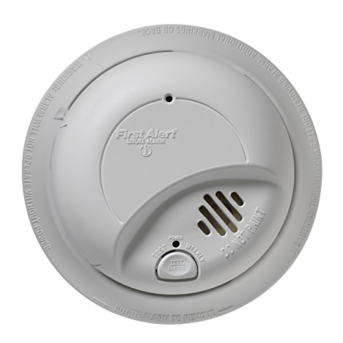 First Alert Smoke Detector Alarm | Hardwired with Backup Battery, 6-Pack, BRK9120b