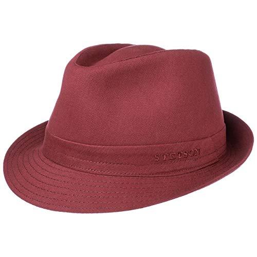 Stetson Sombrero de Tela Teton Trilby Mujer/Hombre - Made in Italy Verano algodón Sol con Forro Verano/Invierno