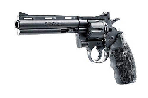 """Colt Python 6\"""" PACK Umarex Revólver de aire comprimido (CO2) y balines de acero (perdigones BBS) calibre 4.5mm. Réplica + accesorios <3,5J"""