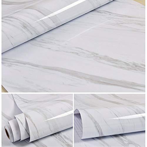 XWSH Papel Pintado de mármol Grueso Impermeable y a Prueba de Humedad gabinete de Cocina Muebles autoadhesivos Pegatinas de renovación Pared de Papel Tapiz (Color : F)