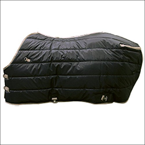 HILASON New Western 84 INCH Winter Black Stable Horse Blanket