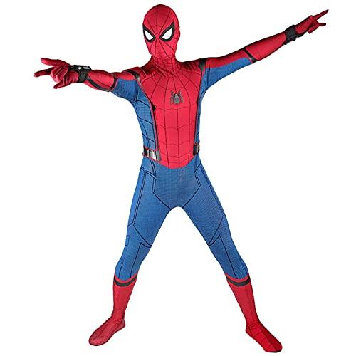 LGGQDC Disfraz Spiderman niño Superhéroe Disfraz Spiderman Cosplay Costume Mono de los Vengadores Fancy Dress Body Traje Super Hero de Disfraz de Fiesta Navidad Halloween Homecoming