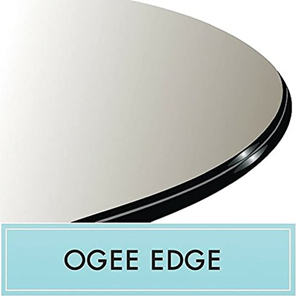 36 Round Clear Glass Table Top 1 2 Thick Ogee Edge