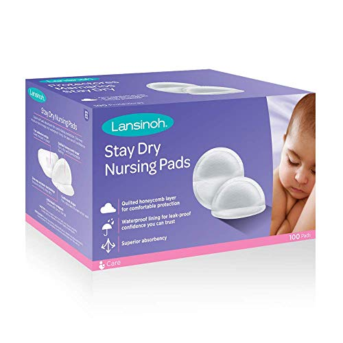 Lansinoh Stay Dry Disposable Nursing Pads, 100 Count