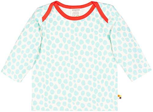 loud + proud loud + proud Unisex Baby Shirt Ringel, aus Bio Baumwolle, GOTS zertiziziert, Blau (Cloud Cl), 80 (Herstellergröße: 74/80)