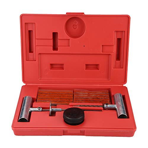 Deror 35Pcs Herramienta de reparación de neumáticos Kit sin cámara de Coche Tapón de neumático Juego de Herramientas de reparación de pinchazos y Planos