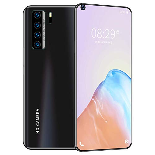 ZZYH Smartphone 4G Android 10, 8GB RAM+256G ROM, 5000 MAh Battery, Unlocked Mobile Phone, 16MP Front Camera + 32MP Rear Camera, 7.2 Inch, Face ID, with 256GB Memory Card