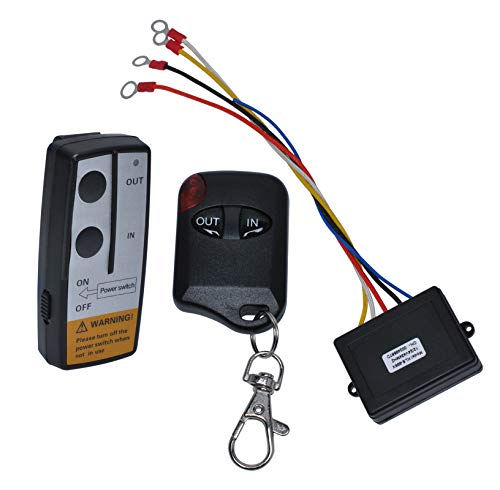 12V Wireless Winch Remote Control Kit for Truck Jeep ATV SUV 75Ft 12V Switch Handset (No Battery)