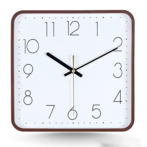 GaoLL Reloj de Pared sin tictac de 11 Pulgadas Reloj de Pared Redondo silencioso operado por batería Reloj de decoración de Estilo Moderno y Simple para el hogar/Oficina/Escuela/Cocina