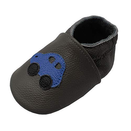 Yalion , Chaussures souple pour bébé (garçon) - - Dunkelgrau, Ampel, 18-24 Monate
