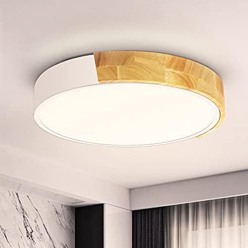 Ketom 24W Plafoniera LED da Soffitto 4500K Bianco Neutro Legno Plafoniere da Soffitto...