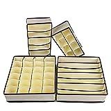 Oakno - Organizador de cajón para sujetador, 4 juegos plegables p