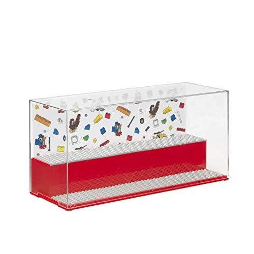 Room Copenhagen 40700001 Lego Play & Display Case Iconic, Rojo
