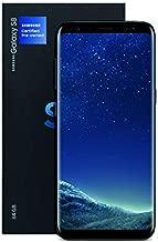 Samsung Galaxy S8 Certified Pre-Owned Factory Unlocked Phone - 5.8Inch Screen - 64GB - Midnight Black (U.S. Version) (Renewed)