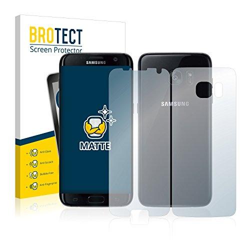 brotect Pellicola Protettiva Opaca Compatibile con Samsung Galaxy S7 Edge (Anteriore + Posteriore) Pellicola Protettiva Anti-Riflesso (2 Pezzi)