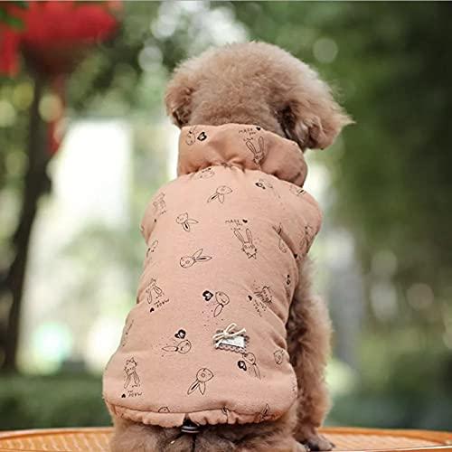 MDKAZ Invierno cálido Perro Ropa Chaleco para Perro a Prueba de Viento Invierno Mascota Perro Abrigo Chaqueta Acolchado Ropa Cachorro Traje Chihuahua Pug Ropa-M