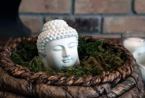 Stone Monkey | Zen Stone Statue | Buddha Laughing Budai Monk Figurine (Buddha Head)