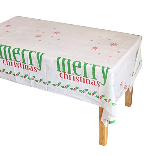 LianMengMVP Mantel de Mesa de Navidad para Fiestas LMMVP Mantel de Feliz Navidad Rectangular Impreso de Dibujos...