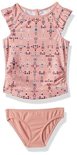 Roxy Girls' Little Boho Tankini Swimsuit Set, Peaches N Cream AZAZ, 3