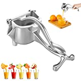 Fantalife Manual Fruit Juicer - Heavy Duty Hand Juicer Fruit Squeezer - Aluminum Alloy Manual Juicer Fruit Press - Fruit Juice Squeezer Lemon Orange Juicer Fresh