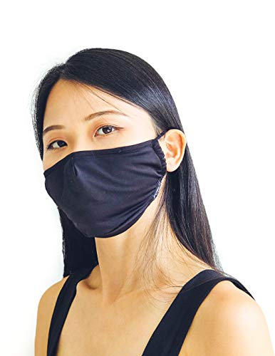 Fydelity-Breathable Face Mask Comfortable Fabric Cover Reusable: Solid Black