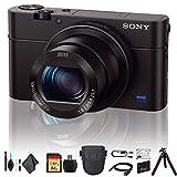 Sony Cyber-Shot DSC-RX100 IV Camera DSCRX100M4/B with Soft Bag, Tripod, Additional Battery, 64GB Memory Card, Card Reader, Plus Essential Accessories