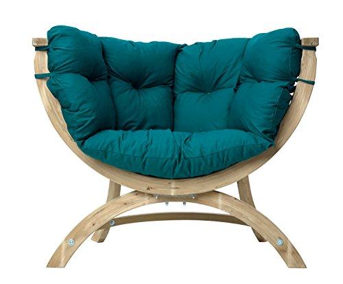 AMAZONAS Lounge Sessel Siena Uno Green aus FSC Fichtenholz ca. 120 x 95 x 60 cm bis 150 kg in Grün