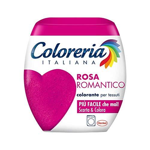 Coloreria Italiana Grey Colorante Tessuti e Vestiti in Lavatrice, Rosa Romantico, 1 Confezione