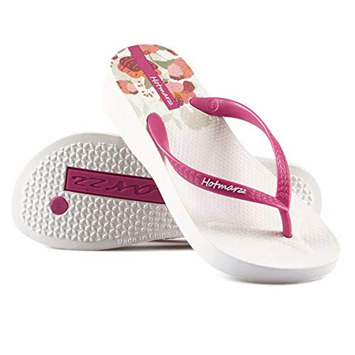Chanclas de fondo grueso para mujer con tacón de cuña antideslizante y sandalias de pie con clip de playa y zapatillas-40_vino tinto