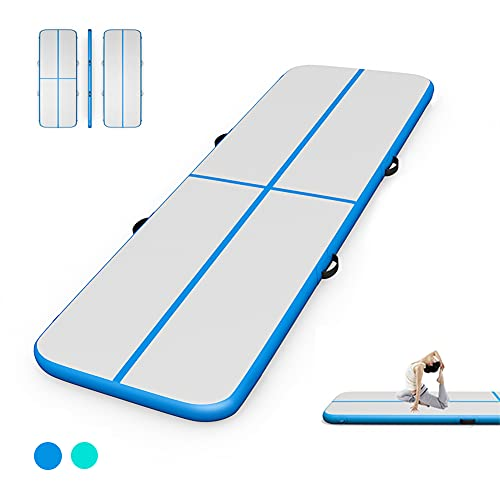 3M Air Floor Track Tumbling Mat Inflatable Gymnastic Mat Training Workout...