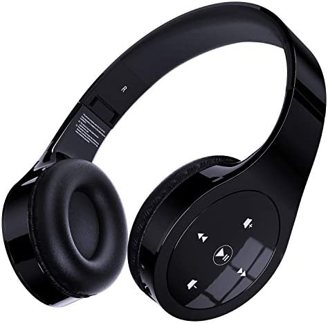 Memzuoix Bluetooth Headphones Unique Wireless Headset Over Ear with Gesture Touch Control Hi product image