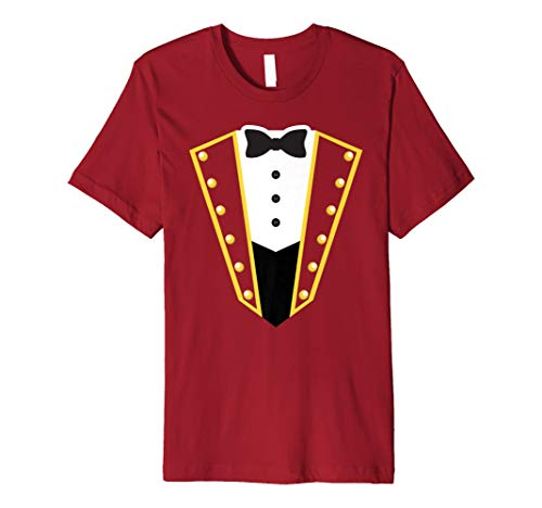 Circus Ringmaster Costume Showman Party Red Shirt