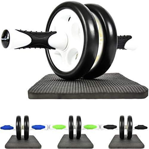 MSPORTS Bauchtrainer AB Roller Premium I Bauchtrainer mit Knieauflage I Bauchroller mit Komfortgriffen I Bauchmuskeltrainer I AB Wheel Muskeltrainer (Schwarz-Weiß)