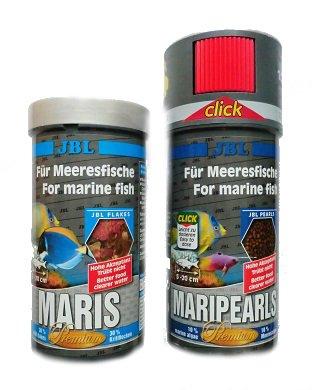 Aquarium Rio JBL Maris 250ml Seewasserflocken & Maripearls 250ml Set