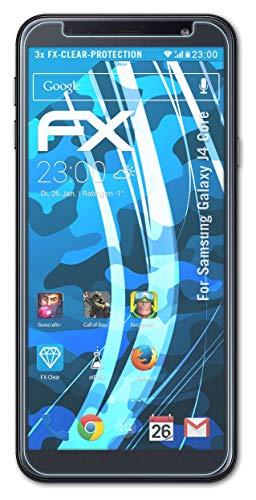 atFolix Schutzfolie kompatibel mit Samsung Galaxy J4 Core Folie, ultraklare FX Bildschirmschutzfolie (3X)