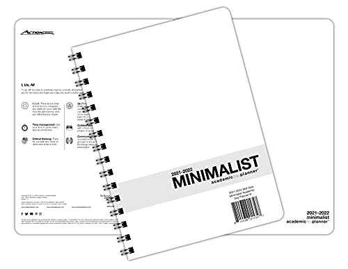 Action Publishing · Minimalist Student Planner · Dated Weekly and...