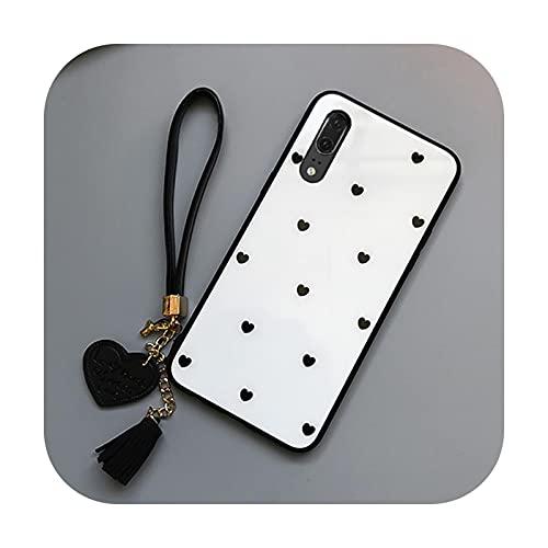 Fundas de teléfono móvil para iPhone 12 Pro Max Mini caso y correa libre pequeño corazón vidrio duro protección cubierta del teléfono para iPhone 11 X 78-01-para iPhone XS MAX