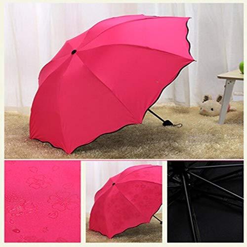 NJSDDB paraplu Creatieve Blossom In Water Zwarte Lijm Anti - Ultraviolet Zonnescherm Paraplu Voeg Hulp Paraplu Alleen Mooie Magische Paraplu, 1 exemplaar
