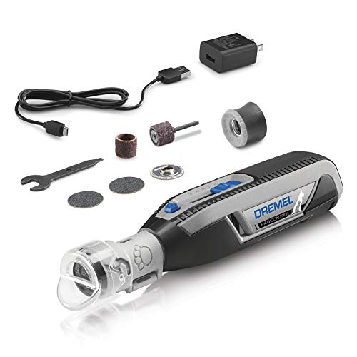 Dremel PawControl Dog Nail Grinder and Trimmer- Safe & Humane Pet Grooming Tool Kit- Cordless & Rechargeable Claw Grooming Kit for Dogs, Cats, and Small Animals 7760-PGK