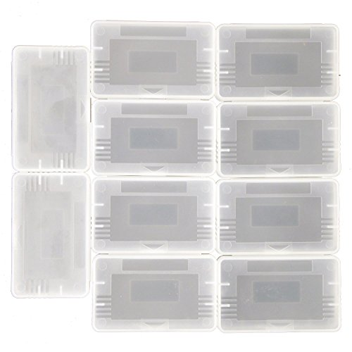 Ninthseason 10 Pcs/Lot Clear Plastic Game Cartridge Card Box Case Cover for Game Boy Gba Sp Gbm