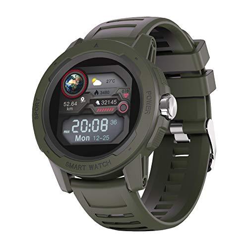 YoYoFit Smartwatch, 1.4 Zoll Touch Farbdisplay, Outdoor Digitale Uhr wasserdichte Sportuhr mit 7 Sportmodus, Schlafmonitor, Fitness Tracker für Herren Damen