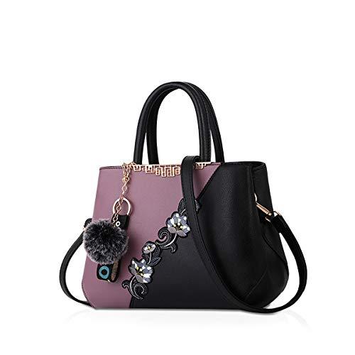 NICOLE & DORIS Bolsos de mujer Bolsos de moda Bolso estampado de flores Bolsos de mano bolsos de hombro Noir