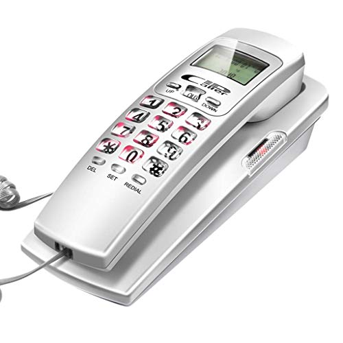 WYJW Wall-Mounted Telephone Extension, Home Office Fixed landline, Support for Caller ID, Hotel Bedside Wall-Mounted Telephone