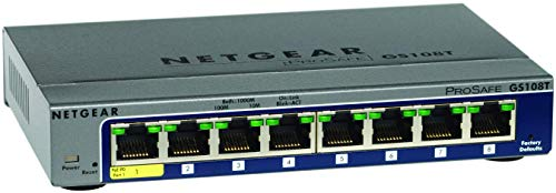 Netgear ProSAFE GS108T-200GES (8 Port Gigabit Smart Managed Switch 8 x 10/100/1000 - desktop)