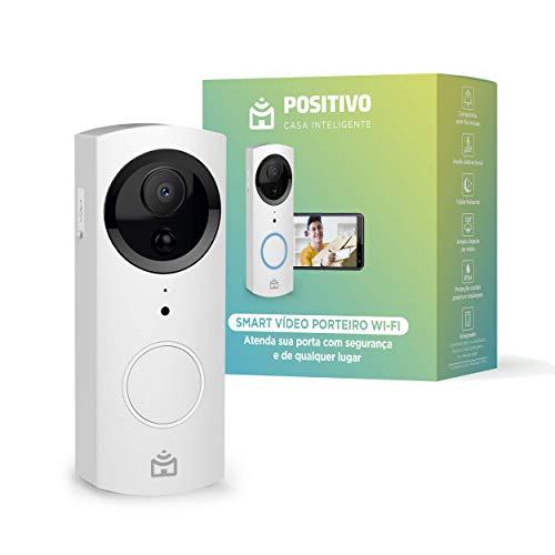 Smart Vídeo Porteiro Wi-Fi Positivo Casa Inteligente, Indoor e Outdoor, 720p Full HD, 30 FPS, áudio bidirecional, detecção de movimentos, visão noturna, Bivolt – Compatível com Alexa
