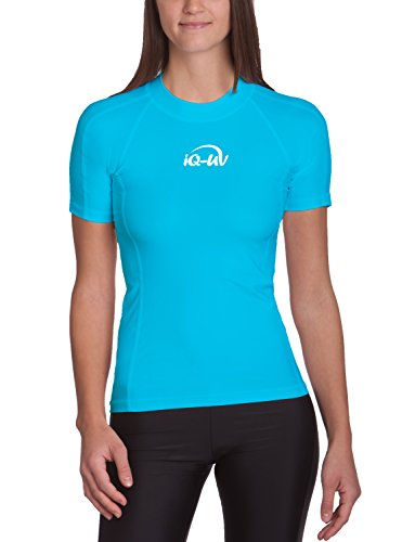 iQ-UV Damen 300 Slim Fit UV T-Shirt, turquoise 2, XL (44)