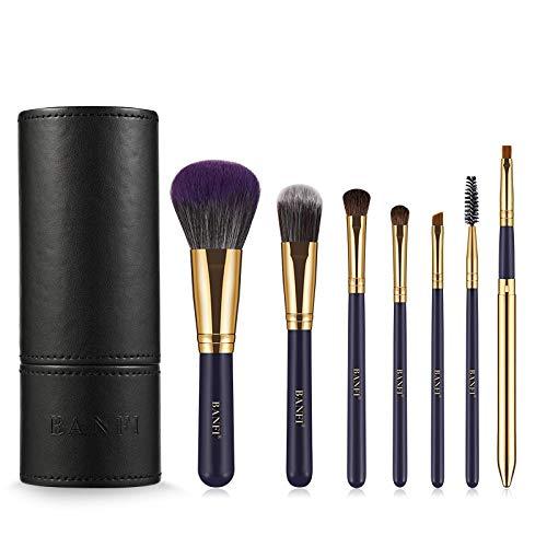 LSWL 7pcs / set de maquillage Pinceaux Beauté maquillage professionnel Pinceau fond de teint poudre Cheveux naturels Blushes (Color : 01)